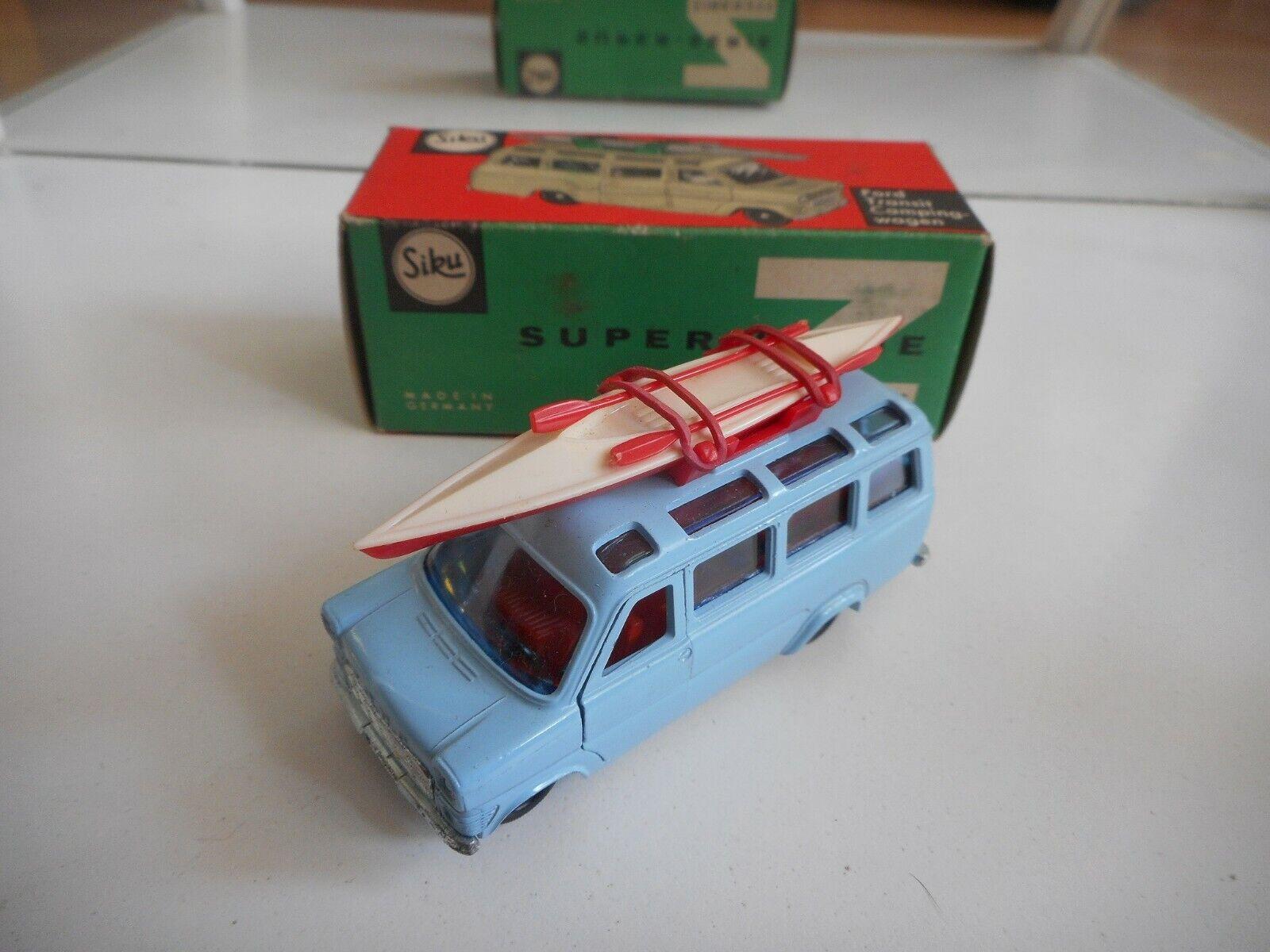 Siku Ford Transit Camping Car in bleu in Box (Siku nr  V264)