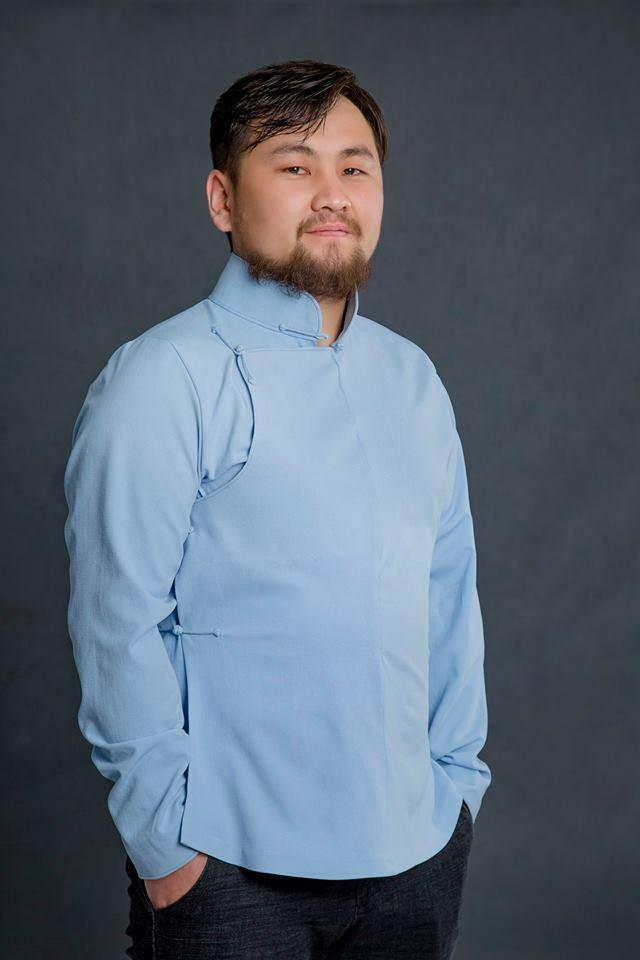 Mongolian Light bluee Deel Men Shirt