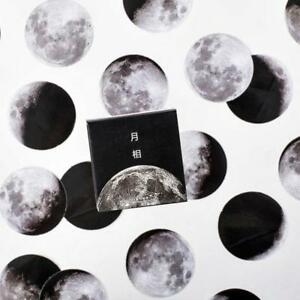 45Pcs-Pro-Mini-Creative-Moon-Label-Paper-Sticker-Diary-Scrapbooking-Journal