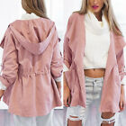 Women Warm Fashion Hooded Long Coat Jacket Trench Windbreaker Parka Outwear