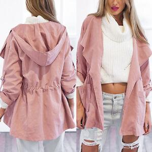 Women-Spring-Warm-Hooded-Long-Coat-Jacket-Lady-Trench-Windbreaker-Parka-Outwear