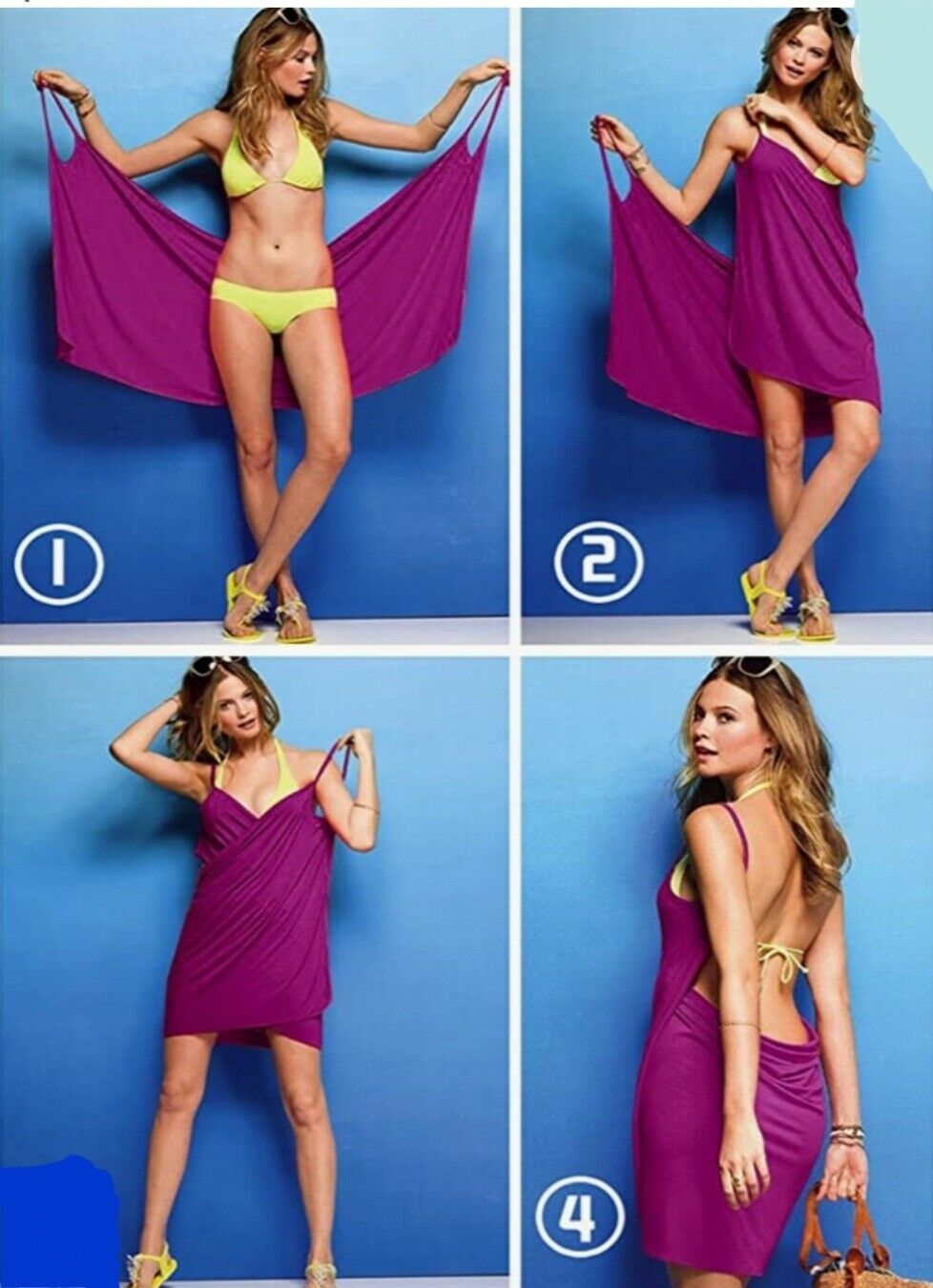Ladies Long Summer Dress Mini Dress Beach Dress Sarong Wrap Dress Ups