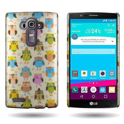 Hard Phone Case for LG G4 - Fancy Owls Design Slim Fit Back Cover