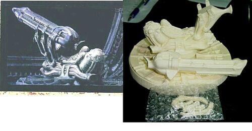 """7/""""x7/""""Diameter ALIEN SPACE JOCKEY Sci-Fi Movie Resin Model Kit 1//60"""