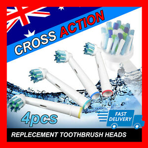 CROSS-ACTION-Oral-B-Compatible-Electric-Toothbrush-Replacement-Brush-Heads-x4