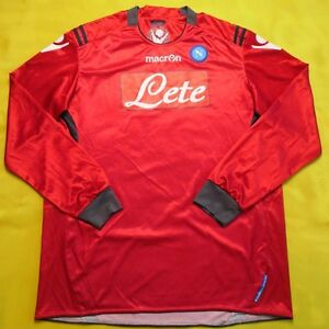 5 5 SSC Napoli Soccer FOOTBALL SHIRT JERSEY MACRON LONG SLEVEE  d4a2c16afb17d