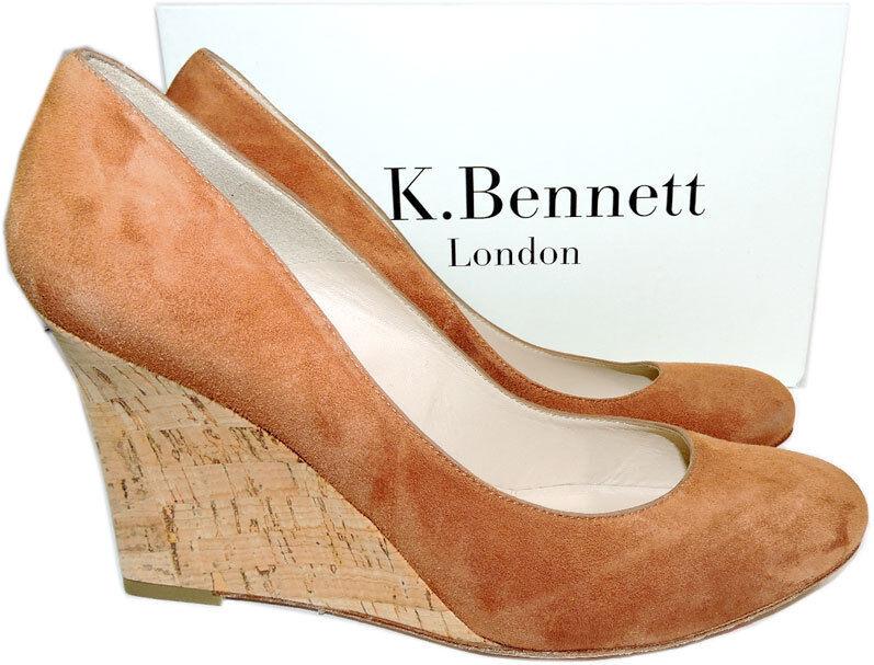 325 L.k. Bennett  Pump Harley Tan Eirene Wedge Pump shoes Heel 41