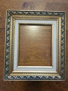 Gorgeous-Vintage-Ornate-Baroque-Gold-Wood-Gesso-Picture-Frame-Holds-8x10