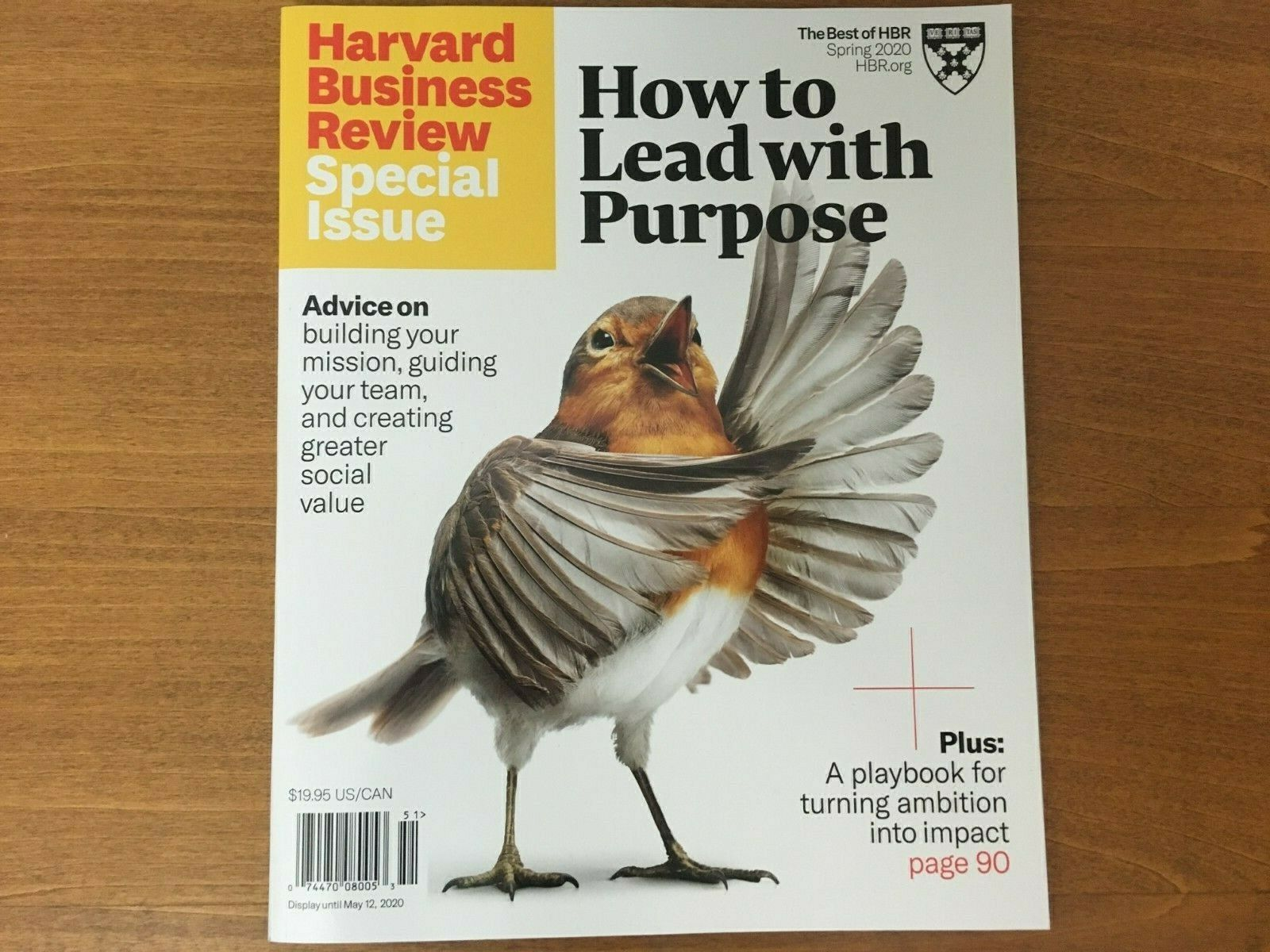 HARVARD BUSINESS REVIEW Magazine Special Issue 2020 How to Lead with Purpose 5