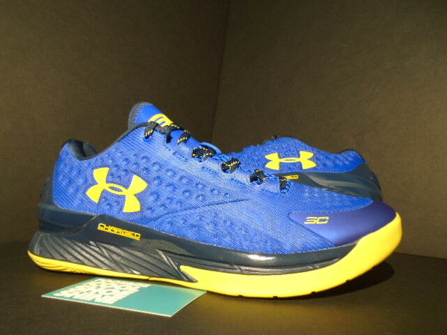 UNDER ARMOUR CURRY LOW WARRIORS TOUR Gelb ACADEMY Blau TAXI 1269048-400 10.5