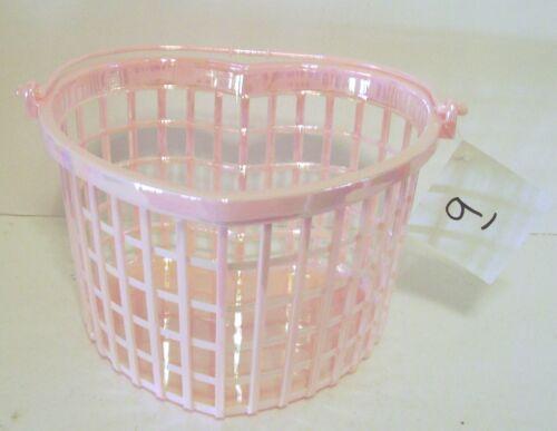 PINK PLASTIC BASKET DECORATION SPRING SUMMER VALENTINES DAY GIRL ROOM DECORATION