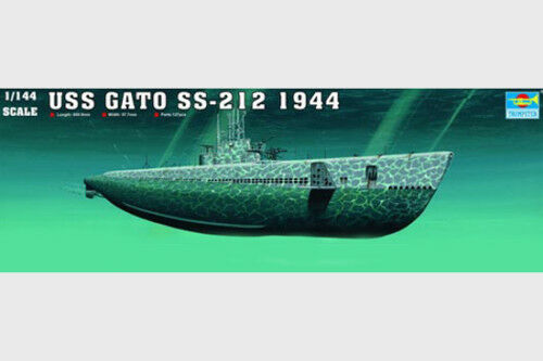 Trumpeter 05906 1 144 Static Model USS GATO SS-212 1944 Submarine Dunker Boat
