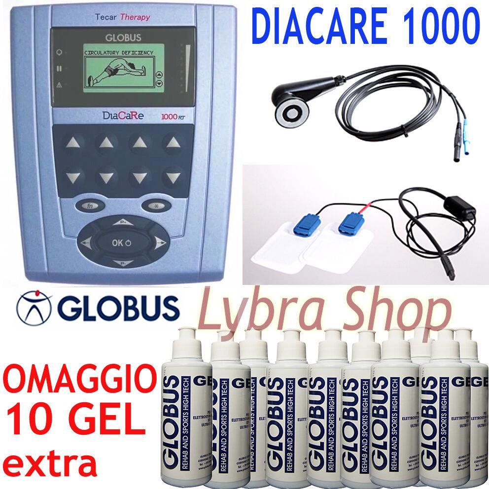 Globus DIACARE 1000 RT terapia TECAR resistiva diatermia + Diatrode + Monotrode