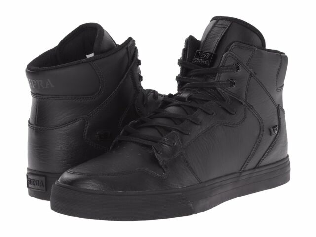 1cca194f5e NEW SUPRA VAIDER BLACK BLACK 08201-081 SKATEBOARD SHOES MEN'S 5.5 WOMEN'S 7