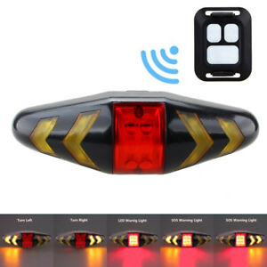 Rechargeable-LED-Bike-Tail-Light-Bicycle-Turn-Signal-w-Front-Bar-Remote-Control
