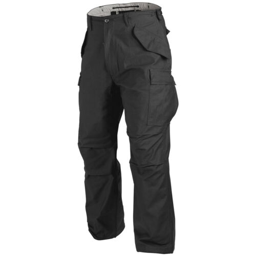 HELIKON GENUINE US M65 COMBAT CARGO MENS TROUSERS ARMY PANTS MILITARY NyCo BLACK
