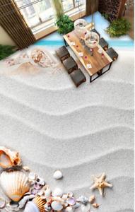 3D Shells Ripple Sand 77 Floor WallPaper Murals Wall Print Decal AJ WALLPAPER US