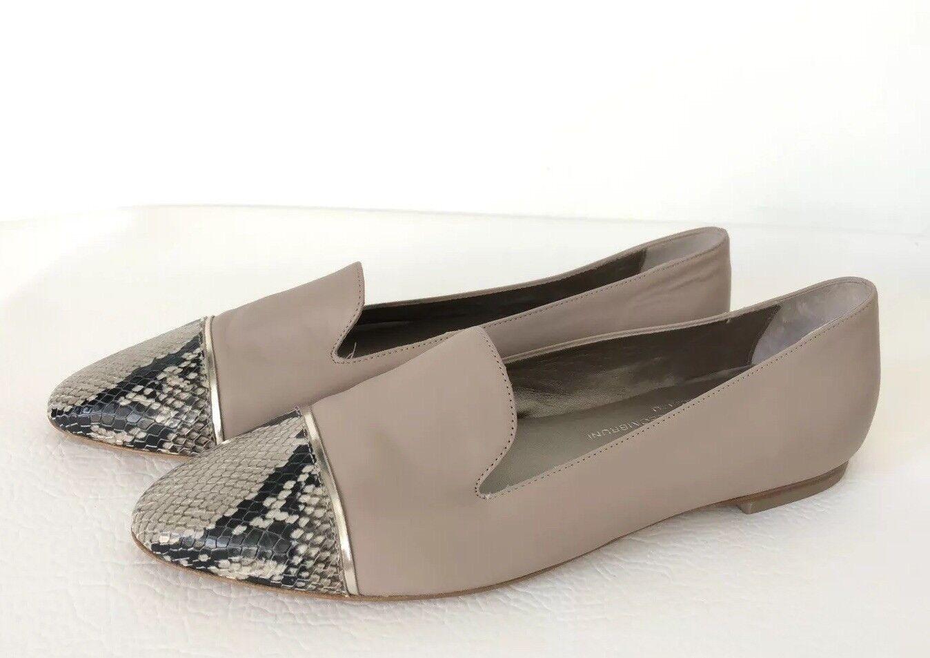 AGL Attilio Giusti Giusti Attilio Leombruni Cuero Puntera Plana Mocasines Para mujeres Zapatos Talla 9 40 587a37