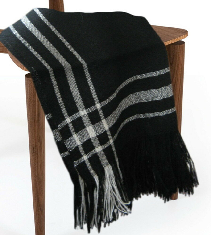 Wool Throw Blanket, Soft Silky and Luxurious Sweeney Todd Throw – All Natural
