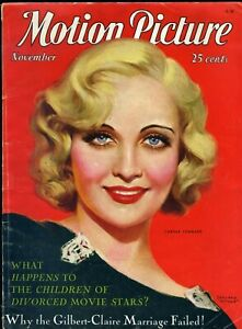 MOTION-PICTURE-Magazine-Nov-1931-CAROLE-LOMBARD-cover-by-MARLAND-STONE