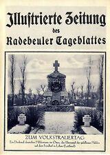 Volksbund Deutsche Kriegsgräberfürsorge Libau Stenay Lens Tuckum Bagneux ...1926