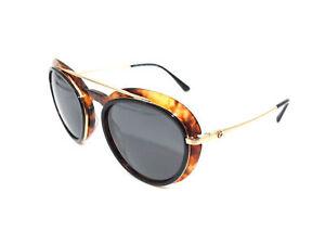 e13befba70fe Image is loading Authentic-GIORGIO-ARMANI-Gold-Black-Amber-Sunglasses -AR6055F-