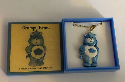 "CARE BEARS /""GRUMPY BEAR/"" VINTAGE PIN AMERICAN GREETINGS CORP 1985"