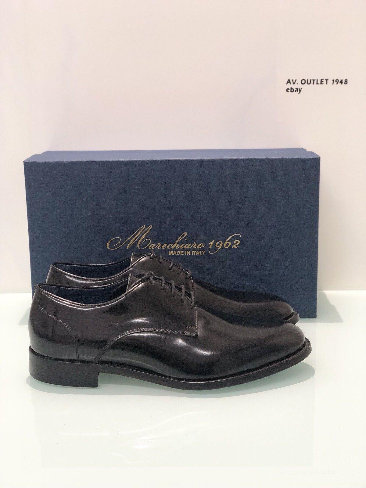 Derby Leather Black Marechiaro 1962 Man Model 5143 Size 40 Made IN