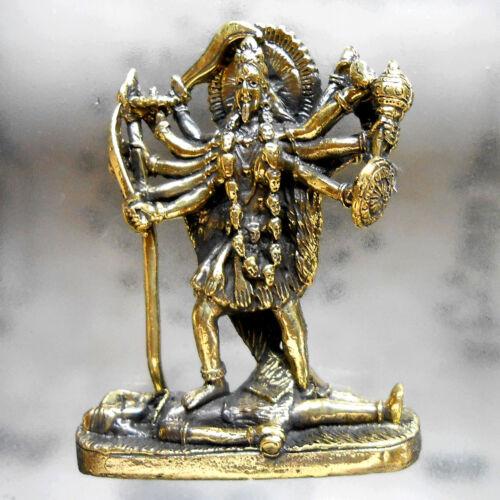 KALI Deity Hindu Goddess Amulet Statue Brass Magic Powerful Holy Talisman Fetish