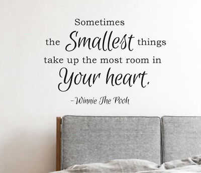 the smallest things take your heart wall sticker home quotes