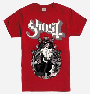 Ghost-BAND-CARDINAL-COPIA-PAPA-T-Shirt-Red-NEW-Metal-Band-100-Authentic