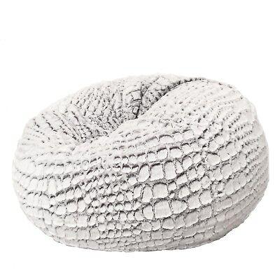 Astonishing Fur Beanbag Cover Soft Plush Silver White Cashmere Ncnpc Chair Design For Home Ncnpcorg