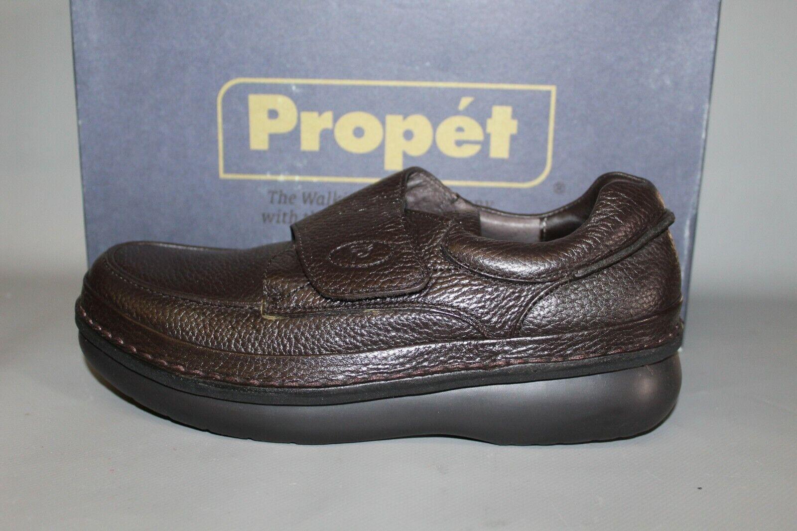 NEW Men's Propet M50155 Dark Brown Hook and Loop Casual Comfortable shoes