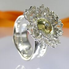 A722 Unikat Brillant Diamant Ring 750 Gold 925 Silber Schmuck Gr.57 Handarbeit