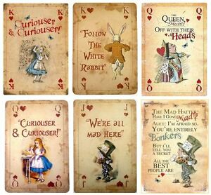 Edible Vintage Playing Cards Alice In Wonderland Icing