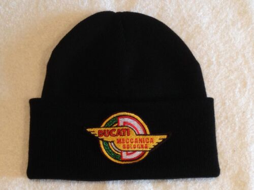Woolly Hats // Beanies // Bobble Hats 1953 Meccanica logo Ducati Motorcycles