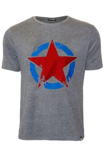 Mens Branded Designer Star Printed Short Sleeve Crew Neck Casual Top Tee T Shirt
