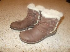 """Womens """"UGG Australia"""" Brown Ankle Boots Leather Size 8"""