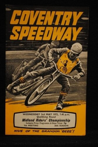 SPEEDWAY Coventry Midland Riders Championship Qlfy Rnd 3 May 1972