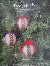 Florentine Stripe Tree Jewel Bead Ornament Needlework PATTERN- Anna Marie Winter