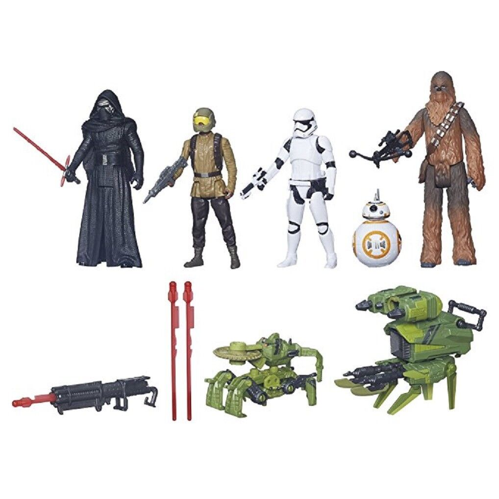 Star Wars The Force Awakens BB-8 Kylo Ren Chewbacca Stormtrooper 5 figures toy