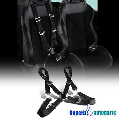 1x 4 Camlock Belts JDM Harness JDM Seat Safety 4PT Racing Black Point SxZSqwr