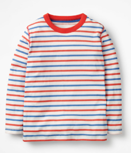 Boys top MINI BODEN polo t-shirt striped age 2 3 4 5 6 7 8 9 10 years  NEW