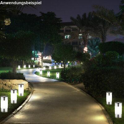 9 LED Solar Steck Leuchten Außen Wege Beleuchtungen Edelstahl Garten Big Light