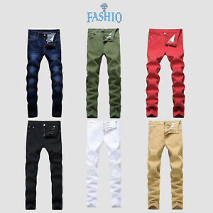 Men-039-s-Stretchable-Fitted-Denim-Fashion-Jeans-Pants-Trousers