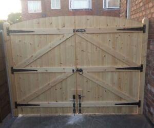 WOODEN DRIVEWAY GATES GARDEN GATES SOLID GATES eBay