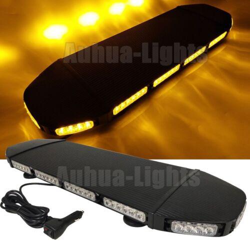 "72 LED 28/"" Amber Warn Traffic Law Enforcement Flashing Roof Top Strobe Light Bar"