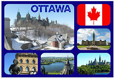 OTTAWA, CANADA - SOUVENIR NOVELTY FRIDGE MAGNET - NEW - GIFT / XMAS / B/DAY