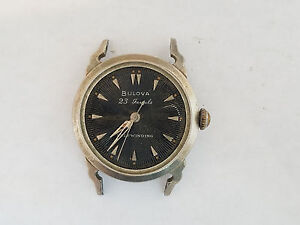 vintage bulova automatic 23j mens wristwatch fancy
