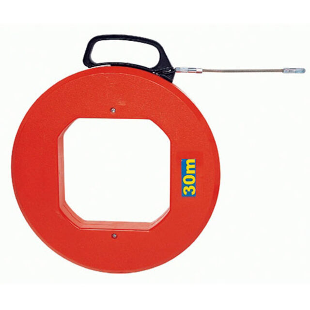 O310a Steel Fish Tape Reel Wire Pullers 30m(100ft) Tool Electrical ...